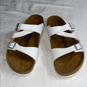 Birkenstock white sandals sz 39 EU - US 9